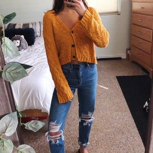 american eagle knitted slouchy cardi